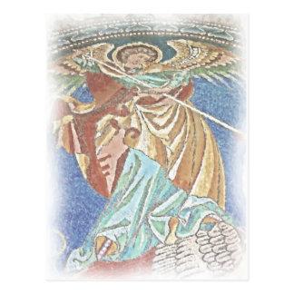 、Kaiserウィルヘルム教会ゴシック様式、天使ミハエルBerli ポストカード