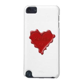 Kaitlin。 一流のKaitlinの赤いハートのワックスのシール iPod Touch 5G ケース