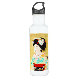 Kajiwara Hisako京都Maikoの芸者の芸術 ウォーターボトル
