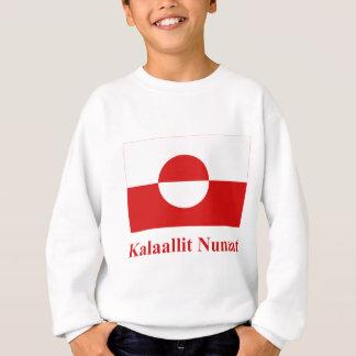 Kalaallisutの名前のグリーンランドの旗 スウェットシャツ