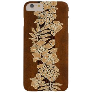 Kalaheoのハワイのハイビスカスの樹皮布の模造のなKoa木 Barely There iPhone 6 Plus ケース