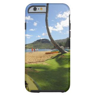 Kalapakiのビーチ、カウアイ島ハワイ、iPhone 6の堅い場合 ケース