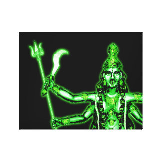 Kali暗い女神の緑 キャンバスプリント