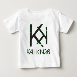 kali王の黒の背部green.png ベビーTシャツ