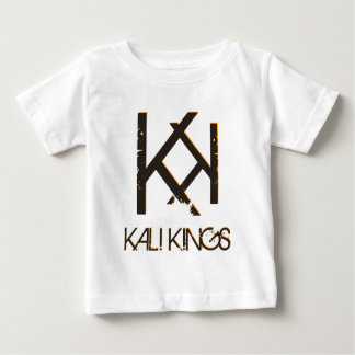 kali王の黒の背部orange.png ベビーTシャツ