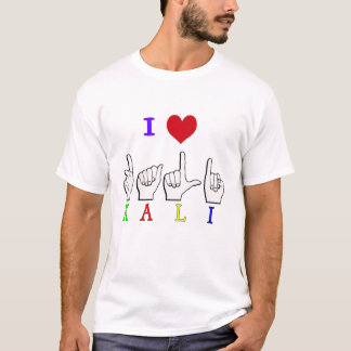 KALI ASL FINGERSPELLED Tシャツ