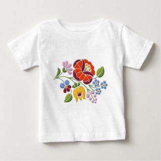 Kalocsaの刺繍-ハンガリーの民芸 ベビーTシャツ