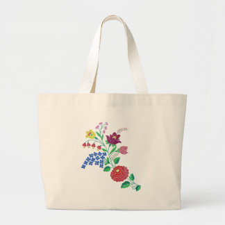 Kalocsaiの花の茎 ラージトートバッグ