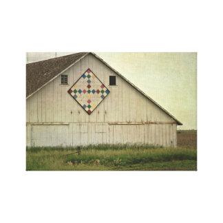 Kalonaの納屋のキルト キャンバスプリント