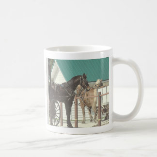 Kalonaアマン派の馬 コーヒーマグカップ