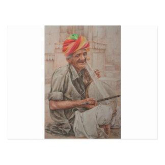 Kamaychaプレーヤー、Jaisalmer ポストカード