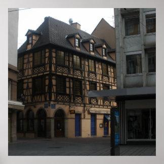 Kammerzellの家ストラスブールフランス ポスター