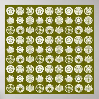 kamon pattern2 ポスター