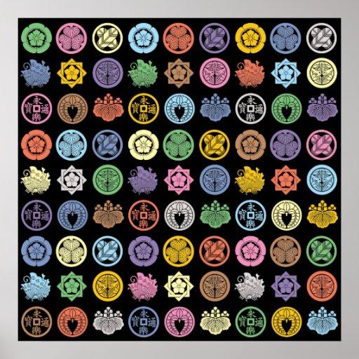 kamon pattern3 ポスター