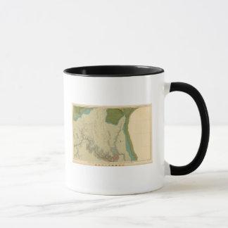 Kanabを示す地質地図 マグカップ