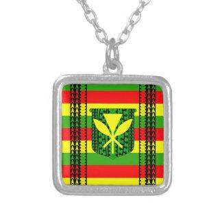 Kanaka種族のMaoliの旗 シルバープレートネックレス