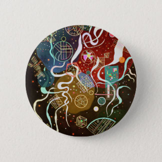 Kandinskyの動きIボタン 5.7cm 丸型バッジ