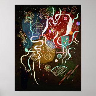 Kandinskyの動きIポスター ポスター