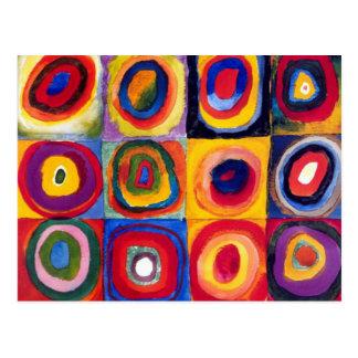 Kandinskyの同心円の郵便はがき ポストカード