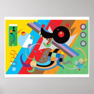 Kandinskyの子犬ポスター ポスター