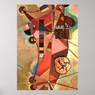 Kandinskyの抽象的なアートワーク、固定小数点 ポスター