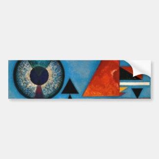 Kandinskyの柔らかい懸命の抽象芸術 バンパーステッカー