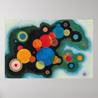 Kandinskyの構成のDeepedの衝動の絵画の芸術 ポスター