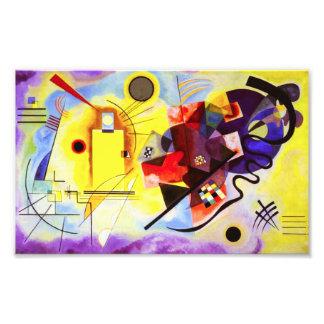 Kandinskyの黄色く赤い青写真 フォトプリント