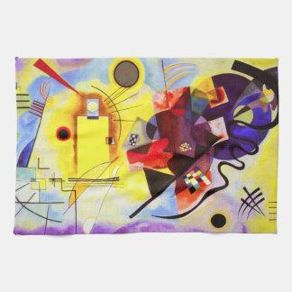 Kandinskyの黄色く赤く青い台所タオル キッチンタオル