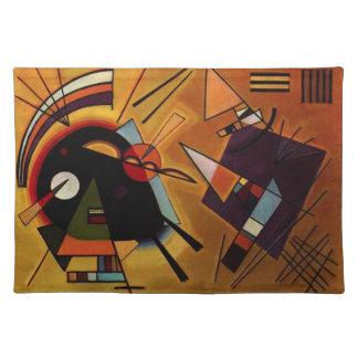 Kandinskyの黒いおよびすみれ色のランチョンマット ランチョンマット