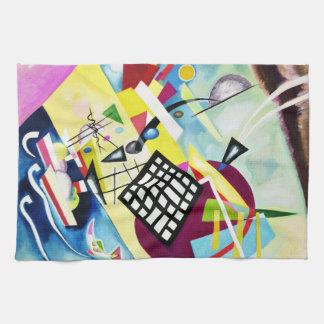 Kandinskyの黒い格子台所タオル キッチンタオル