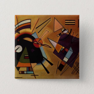 Kandinskyの黒すみれ色ボタン 缶バッジ