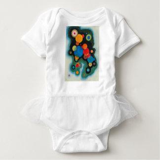 Kandinskyはキャンバスの衝動の抽象芸術の油を深めました ベビーボディスーツ