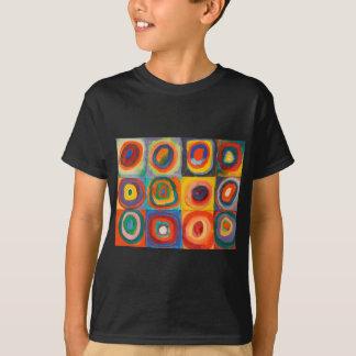 Kandinskyは同心円を平方します Tシャツ