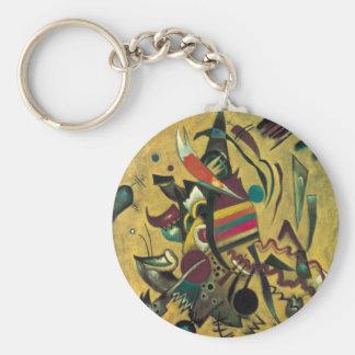 Kandinskyポイント抽象的なキャンバスの絵画 キーホルダー