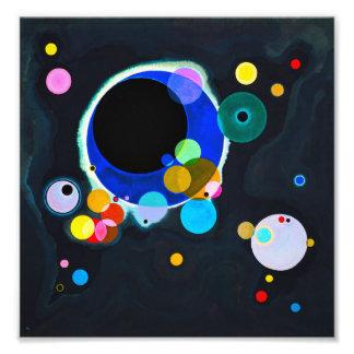 Kandinsky複数の円のプリント フォトプリント