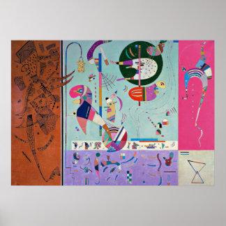 Kandinsky -さまざまな部品 ポスター