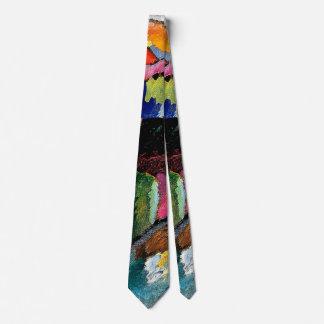 Kandinsky -工場煙突との景色 ネクタイ