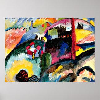 Kandinsky -工場煙突との景色 ポスター