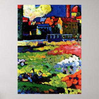 Kandinsky -教会が付いているミュンヘンSchwabing ポスター