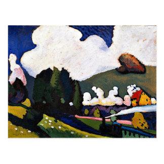 Kandinsky -機関車とのMurnauの近くの景色 ポストカード