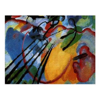 Kandinsky -漕ぐ即興26 ポストカード