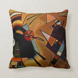 Kandinsky -黒およびバイオレット クッション