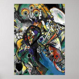 Kandinsky - 2つの楕円形 ポスター