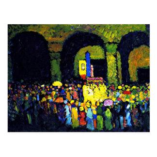 Kandinsky - MurnauのLudwigkirche ポストカード