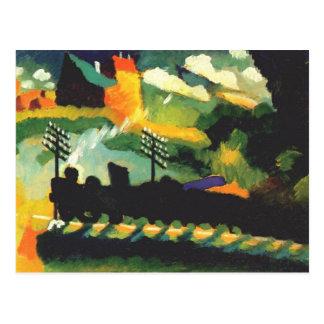 Kandinsky - Murnau、列車および城 ポストカード