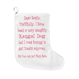 Kangalいけない犬 ラージクリスマスストッキング