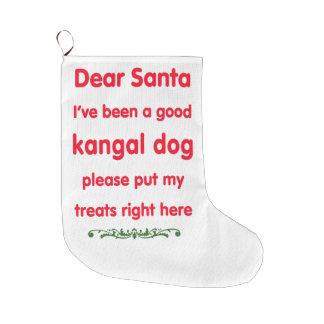 Kangalよい犬 ラージクリスマスストッキング