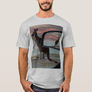 Kangaroo_Sea_Breezesの_Mens_Grey_T-shirt Tシャツ