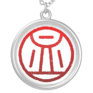 "kanji""血"" シルバープレートネックレス"